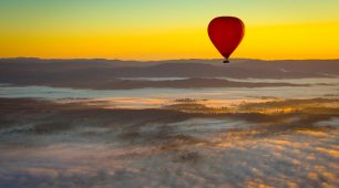 Hot Air Balloon at Sunrise Self Drive
